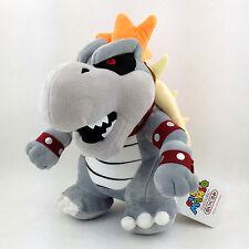 "Dry Bowser Bones New Super Mario Bros Skeletal Koopa Plush Toy Stuffed Animal 9"""