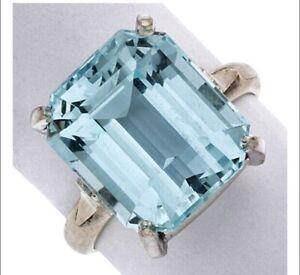 Aquamarine White Gild Ring