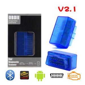 Super Mini OBD2 V2.1 Bluetooth Diagnostic Scanner Tool for Multi-Brands CAN-BUS