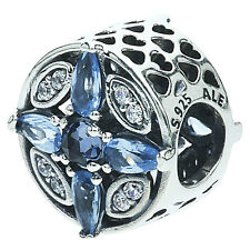 NEW ✨ Genuine  PANDORA Silver ✨Midnight Blue Radiant Hearts Charm ✨791995NMBMX