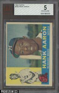 1960 Topps #300 Hank Aaron Milwaukee Braves HOF BVG 5 EX