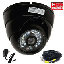Security Dome Camera Ir Infrared Outdoor Night Ccd Wide Angle w/ Power Cable Bqc