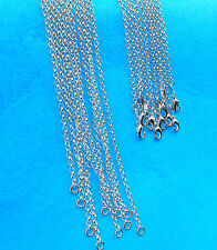 5PCS Nice Jewelry Cross Pearl 925 Silver Plated Necklace Chains For Pendant Top