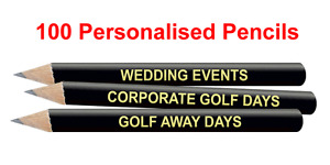 Best Impressions Printed Golf Pencils Wood Different Colours and Quantities New