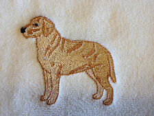 Labrador Retriever, Yellow Lab, Hand Towel, Embroidered, Custom, Personalized