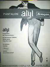 PUBLICITE DE PRESSE ATYL PANTALON TERGAL ILLUSTRATION GRUAU FRENCH AD 162