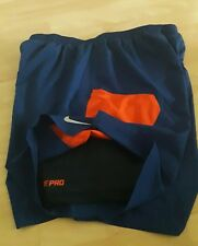 NEW Nike Men's 2-in-1 Flex Running Blue Shorts Dri Fit  compression  Medium 7""