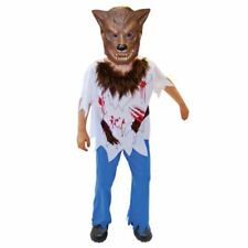 Childrens Werewolf Boy Halloween Costume Fancy Dress Outfit Medium Size 6-8 yrs