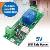 WiFi Wireless Smart Switch Relay Module DC 5V Für Alexa Google Home iOS Android