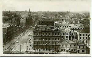 Birds Eye View of Melbourne, looking down Bourke St. - Postcard