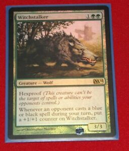 Magic The Gathering Witchstalker Foil Magic 2014 Used