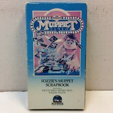HTF‼ Jim Henson's Muppet Playhouse Video Fozzie's Muppet Scrapbook VHS FREE S/H‼