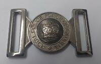 Genuino Real Antigua Police Insignia Plata Cinturón Hebilla Cromo Medallón MFB39
