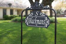 Le Paris Estate Reflective Address Sign 2 Sided