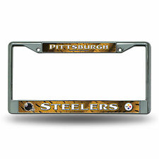 Caseys Distributing 9474627742 Pittsburgh Steelers Chrome License Plate Frame