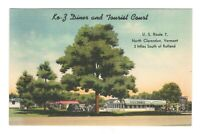 K-O-Z Diner & Tourist Court North Clarendon Vermont Linen Vintage Postcard  MD3