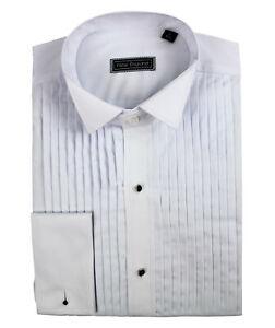 Peter England Machine Pleat Wing Collar Cotton Dress Shirt
