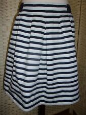Size 12 blue striped Crew Clothing skirt.