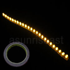 10XCar Yellow 24cm 24LED PVC Flexible LED Strip Light+Double Faced Adhesive Tape