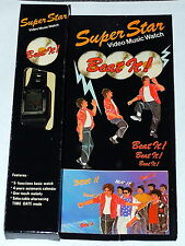 VINTAGE 1980s SUPERSTAR DIGITAL LCD VIDEO MUSIC WATCH BEAT IT! MICHAEL JACKSON