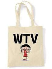 WTV SHOULDER  TOTE BAG - Whatever Text Language Facebook Twitter