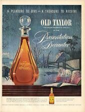 1954 Old Taylor PRINT AD Bourbon Whiskey Presentation Decanter