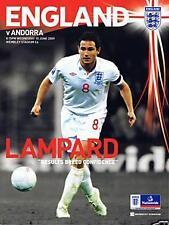 * 2009 - ENGLAND v ANDORRA *