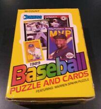 1989 DONRUSS BASEBALL 36 PACK WAX BOX, KEN GRIFFEY JR. & RANDY JOHNSON RC'S