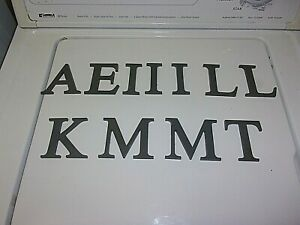 LOT OF 11 CAST ALUMINUM 3 IN. X 1/4 IN. THICK SIGN / HOUSE LETTERS.