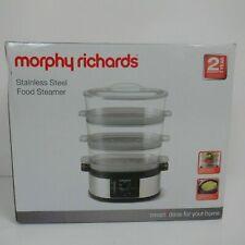 Morphy Richards 3 Étages Nourriture Steamer Trois Étages en Acier Inoxydable Foo...