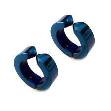 1Pair/2pcs Mens Stainless Steel Ear Stud Cuff Hoop Non-Piercing Clip-on Earrings