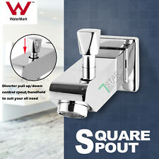 Square shower head set Bath water spout with diverter brass chrome