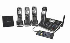 UNIDEN XDECT 8155+3 DIGITAL CORDLESS PHONE BLUETOOTH USB CHARGING PHONE SYSTEM