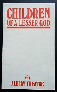 Children Of A Lesser God programme Albery Theatre 11.1982 ed. Oliver Cotton