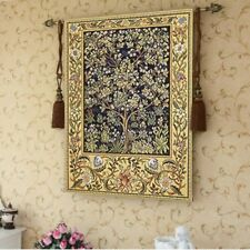 Wall Tapestry William Morris Tree of Life Wall Art Home Decor 35x27 Free Tassels