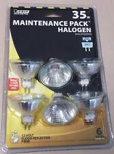 6 Pack Feit 35 watts 12 Volt Halogen Reflector Flood Bulbs Bright White