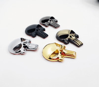 2pcs 3D Punisher Skull STICKER Deadpool Magwell Decal Metal Badge Sticker 5color