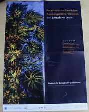 GERMAN EXHIBITION POSTER 2005 - SERAPHINE LOUIS PARADISE PLANTS APOCALYPTIC