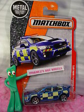 2017 MATCHBOX #60 '15 SUBARU WRX STI☆blue;yellow;POLICE☆Heroic Rescue☆Case G/H