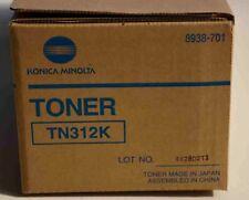 New! GENUINE Konica Minolta Bizhub C300 C352 Black Toner TN312K 8938-701