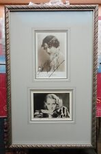 Brigitte Helm & Arlette Marchal Silent Films Signed Framed DoubleMatted Display