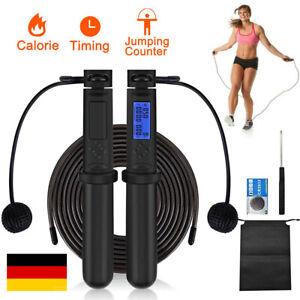 Multifun Springseil Mit Digital Zähler Fitness Seilspringen Speed Rope Hüpfseil