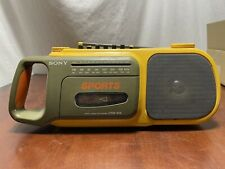 Vintage Sony Sports Radio Cassette Corder Cfm-104 Boombox Stereo Player Deck