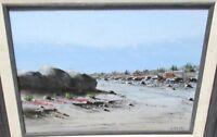 J. DOODY ORIGINAL OIL ON BOARD CALIFORNIA DESERT LANDSCAPE PAINTING