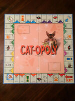 Cat opoly board game replacement board ONLY