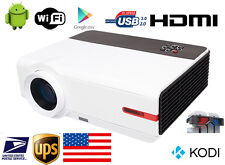 Wireless 1080P 5000 Lumen WIFI Home Theater Android TV Video Movie LED Projector