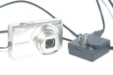 Nikon COOLPIX S6100 16.0MP Digital Camera - Silver with battery and charger