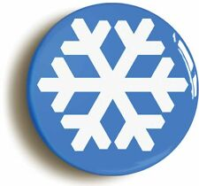 SNOWFLAKE BADGE BUTTON PIN (Size is 1inch/25mm diameter) LEFT WING SOCIALIST