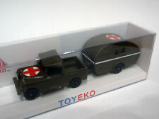 LAND ROVER PICK UP CON CARAVANA SANITARIA MILITAR 1/87 TOYEKO TOY EKO NEW
