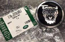 "New Genuine Jaguar  Black ""Growler"" Alloy Road Wheel Centre Cap"